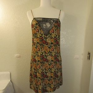 Zara Woman Floral Lace Slip Dress Sz S